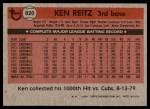 1981 Topps Traded #820 T Ken Reitz  Back Thumbnail