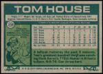 1977 Topps #358  Tom House  Back Thumbnail