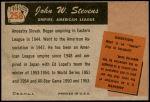 1955 Bowman #258  John Stevens  Back Thumbnail