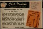 1955 Bowman #72  Chet Nichols  Back Thumbnail