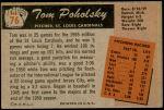 1955 Bowman #76  Tom Poholsky  Back Thumbnail