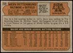 1972 Topps #235  Merv Rettenmund  Back Thumbnail