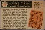 1955 Bowman #31  Johnny Temple  Back Thumbnail