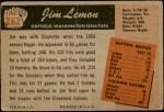 1955 Bowman #262  Jim Lemon  Back Thumbnail