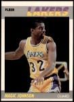 1987 Fleer #56  Magic Johnson  Front Thumbnail