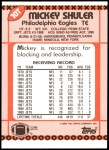 1990 Topps Traded #10 T Mickey Shuler  Back Thumbnail
