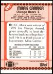 1990 Topps Traded #29 T Mark Carrier  Back Thumbnail
