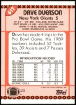 1990 Topps Traded #61 T Dave Duerson  Back Thumbnail