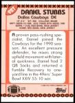 1990 Topps Traded #92 T Daniel Stubbs  Back Thumbnail