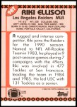1990 Topps Traded #98 T Riki Ellison  Back Thumbnail