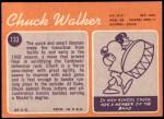 1970 Topps #133  Chuck Walker  Back Thumbnail