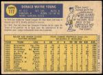 1970 O-Pee-Chee #117  Don Young  Back Thumbnail