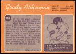 1970 Topps #108  Grady Alderman  Back Thumbnail