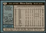 1980 Topps #46  Rico Carty  Back Thumbnail