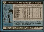 1980 Topps #29  Mark Wagner  Back Thumbnail