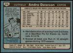 1980 Topps #235  Andre Dawson  Back Thumbnail