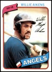 1980 Topps #368  Willie Aikens   Front Thumbnail