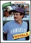 1980 Topps #433  Rich Gale  Front Thumbnail