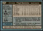 1980 Topps #699  Floyd Bannister  Back Thumbnail