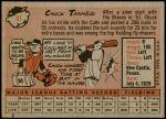1958 Topps #91  Chuck Tanner  Back Thumbnail