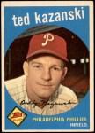 1959 Topps #99  Ted Kazanski  Front Thumbnail