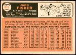 1966 Topps #316  Jack Fisher  Back Thumbnail