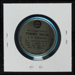 1965 Old London Coins  Tommy Davis  Back Thumbnail