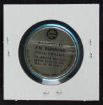1965 Old London Coins  Jim Bunning  Back Thumbnail
