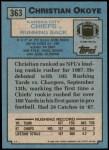 1988 Topps #363  Christian Okoye  Back Thumbnail