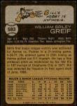 1973 Topps #583  Bill Greif  Back Thumbnail