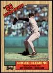 1987 Topps #1   -  Roger Clemens Record Breaker Front Thumbnail