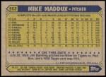 1987 Topps #553  Mike Maddux  Back Thumbnail