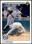 1990 Upper Deck #327  Lou Whitaker  Front Thumbnail