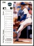 1990 Upper Deck #256  Orel Hershiser  Back Thumbnail