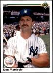1990 Upper Deck #191  Don Mattingly  Front Thumbnail