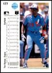 1990 Upper Deck #177  Tim Raines  Back Thumbnail