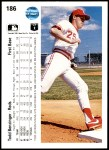 1990 Upper Deck #186  Todd Benzinger  Back Thumbnail