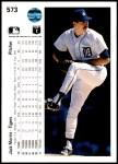 1990 Upper Deck #573  Jack Morris  Back Thumbnail