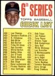 1967 Topps #454 TWO  -  Juan Marichal Checklist 6 Front Thumbnail