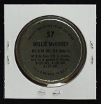 1971 Topps Coins #57  Willie McCovey  Back Thumbnail