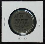 1971 Topps Coins #55  Tony Taylor  Back Thumbnail