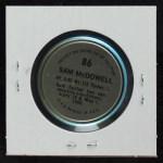 1971 Topps Coins #86  Sam McDowell  Back Thumbnail