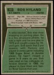 1975 Topps #368  Bob Hyland  Back Thumbnail
