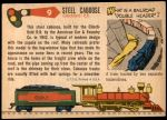 1955 Topps Rails & Sails #9   Steel Caboose Back Thumbnail