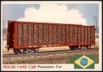 1955 Topps Rails & Sails #97   Sugar Cane Car Front Thumbnail