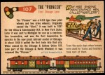 1955 Topps Rails & Sails #107   The Pioneer Back Thumbnail