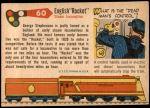 1955 Topps Rails & Sails #60   Stephenson's Rocket Back Thumbnail