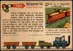 1955 Topps Rails & Sails #103   Refrigerator Car Back Thumbnail
