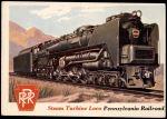 1955 Topps Rails & Sails #12   Steam Turbine Locomotive Front Thumbnail