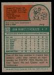 1975 Topps #372  John D'Acquisto  Back Thumbnail